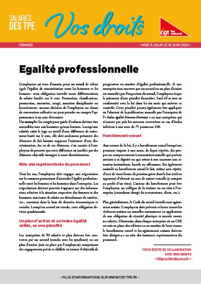 Femmes : égalité professionnelle
