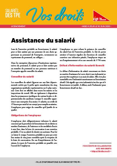 Licenciement : Assistance du salarié