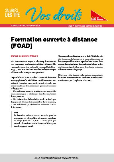 Formation : Formation ouverte à distance