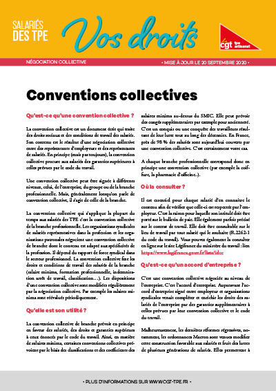 Négociation collective : Conventions collectives