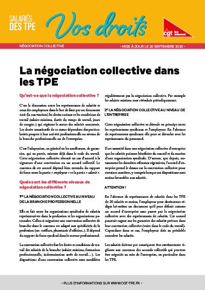 Négociation collective : Grands principes