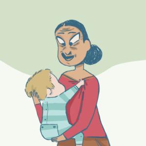 Leïla, assistante maternelle